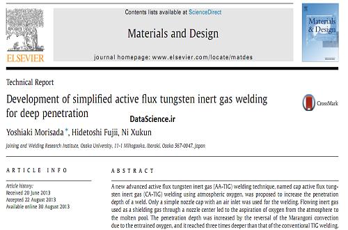 Development of simplified active flux tungsten inert gas welding for deep penetration