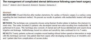 The Management of Complicated Sternal Dehiscence following Open Heart Surgery