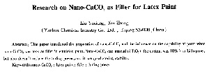 Research on Nano-CaCO_3 as Filler for Latex Paint