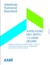 ANSI/AAMI/ISO 10993-15:2000/(R)2011