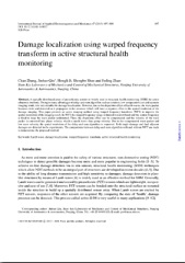 Damage localization using warped frequency transform in active structural health monitoring