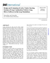 Design and Evaluation of Active Trailer Steering Systems of Long Combination Vehicles Using Driver-Software-in-the-Loop Simulations