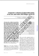 Comparative evaluation of antimicrobial activity of two root canal sealers: MTA Fillapex and AH 26