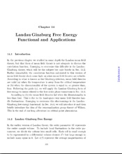 Landau-Ginzburg Free Energy Functional and Applications