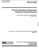 Process Simulation of Superplastic Forming of Titanium Structure