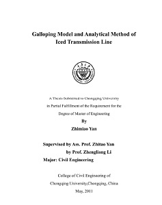 Galloping Model and Analytical Method of Iced Transmission Line
