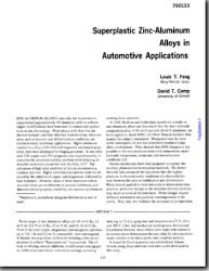 Superplastic Zinc-Aluminum Alloys in Automotive Applications