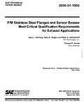 P/M Stainless Steel Flanges and Sensor Bosses Meet Critical Qualification Requirements for Exhaust Applications