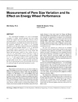 Measurement of Pore Size Variation and Its Effect on Energy Wheel Performance