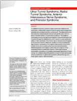 Ulnar Tunnel Syndrome, Radial Tunnel Syndrome, Anterior Interosseous Nerve Syndrome, and Pronator Syndrome