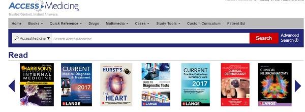 پسورد دسترسی آنلاین به کتابهای سایت accessmedicine