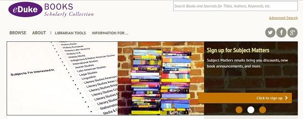 """پسورد دسترسی آنلاین به ژورنالها و کتابهای ناشر دانشگاهی """"Duke press"""""""