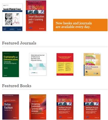 پسورد دسترسی به کتابهای سایت Springer Link