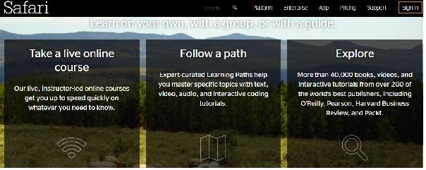 پسورد دسترسی آنلاین به کتابهای سایت safaribooksonline