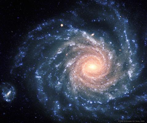 عکس خارقالعاده ناسا از شکوه یک کهکشان مارپیچی
