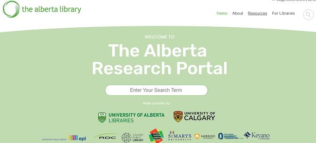 پسورد رایگان دسترسی به منابع الکترونیکی کتابخانه آلبرتا