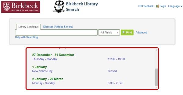 پسورد رایگان دسترسی به منابع الکترونیکی خریداری شده توسط دانشگاهBirkbeckدر لندن
