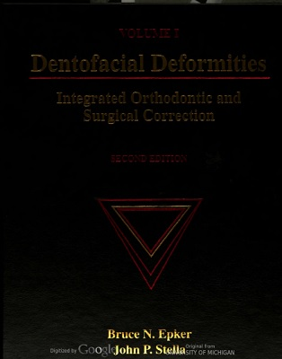 Dentofacial Deformities Integrated Orthodontic and Surgical Correction V1